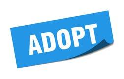 Adopt sticker. Adopt square sign. adopt vector illustration
