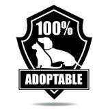 100% adoptable odznaka Ilustracji