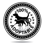 100% adoptable sticker Royalty-vrije Stock Afbeelding