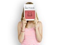 Adopte a los mejores amigos Cat Icon de los animales Imagenes de archivo