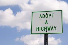 Adopte una carretera Fotos de archivo
