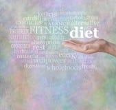 Adopte una dieta sana Imágenes de archivo libres de regalías