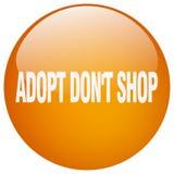 adoptez mettent le bouton poussoir rond orange de gel de boutique du ` t Illustration de Vecteur