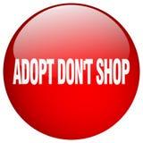 adoptez mettent le bouton poussoir rond rouge de gel de boutique du ` t Illustration de Vecteur
