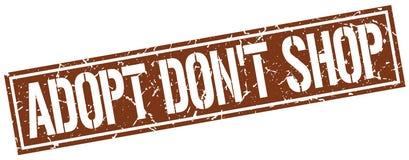 adoptez mettent le timbre de place de boutique du ` t Illustration Libre de Droits