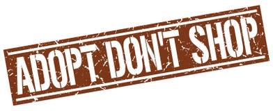 adoptez mettent le timbre de place de boutique du ` t Photos libres de droits