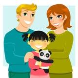 adoptiefamilie Stock Afbeeldingen