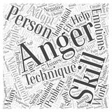 Adopting Anger Management Skills that Work word cloud concept vector background Stock Images