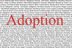 Adoption Photographie stock libre de droits