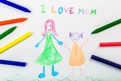 Adoption. Art celebration child crayon daughter day Stock Photos
