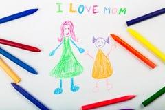 Adoption. Art celebration child crayon daughter day Royalty Free Stock Photography