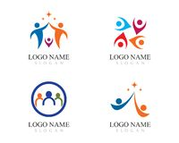 Adoption and community care Logo royalty free illustration