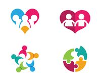 Community care Logo. Adoption and community care Logo template vector icon Royalty Free Stock Photos