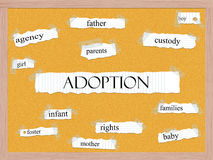 Adoption Corkboard Word Concept Stock Photo