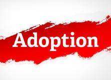 Adoption Red Brush Abstract Background Illustration royalty free illustration