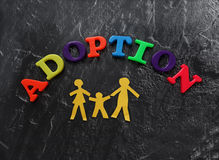 Adoption letters family Royalty Free Stock Image