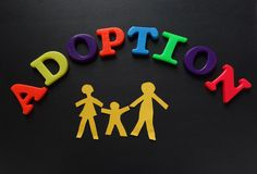Adoption letters royalty free stock photography