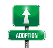 Adoption road sign illustration design Stock Photography