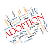 Adoption Word Cloud Concept Angled vector illustration