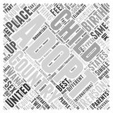 Adoptions word cloud concept background. Text Stock Illustration