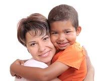 adoptiv- barn Arkivfoto