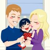 Adoptiv- dotterfamilj Royaltyfri Foto