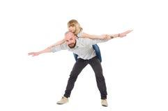 Adoptivo-padre e hija Imagen de archivo libre de regalías
