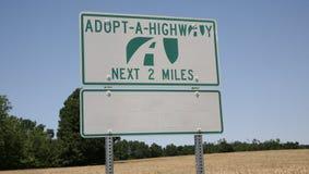 Adoptuje Autostradę fotografia stock