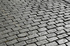 Adoquines-2. A typical street in  La Paz, Bolivia made by stone bricks Stock Images