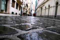 Adoquines de la textura del asfalto Foto de archivo