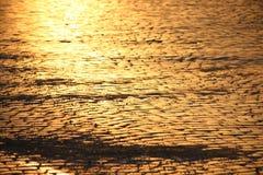 Adoquines en la puesta del sol Imagen de archivo libre de regalías