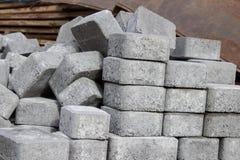 Adoquines grises Fotografía de archivo
