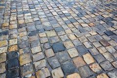 Adoquines mojados Piedra de pavimentación Imagenes de archivo
