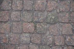 Adoquines rectangulares secos del granito desde arriba Fotografía de archivo