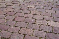 Adoquines rosados en la calle Foto de archivo libre de regalías