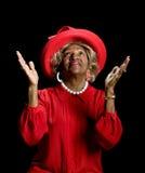 Adoração bonita da mulher do African-American Imagem de Stock Royalty Free