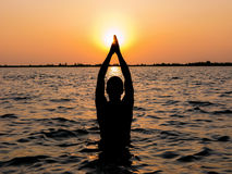 Adoração de Sun Fotografia de Stock Royalty Free