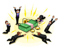Adoração do dinheiro Foto de Stock