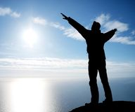 Adoração a Sun Fotografia de Stock Royalty Free