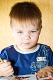 Adorable 2 year old boy. Royalty Free Stock Image