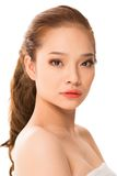 Adorable. Vertical portrait of a Vietnamese beauty captured in half-turn Stock Image
