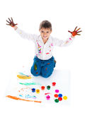 Adorable 3 year old boy Royalty Free Stock Photo