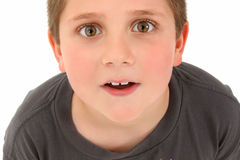 Adorable 8 Year Old Boy Looking Up Royalty Free Stock Image