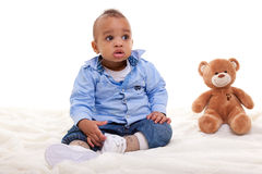 Adorable African American Boy Royalty Free Stock Images