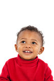 Adorable African American Boy Looking Up Royalty Free Stock Images