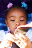 Adorable african american girl Royalty Free Stock Photos