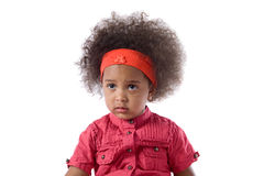 Adorable african baby with afro hairstyle Stock Photos