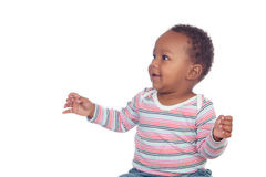 Adorable african baby looking something Royalty Free Stock Photography