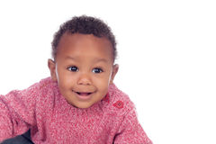 Adorable african baby looking something Stock Photo