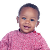 Adorable african baby smiling Royalty Free Stock Images